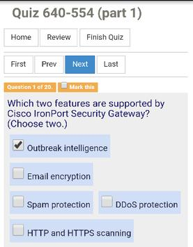 Quiz CCNA Security screenshot 1