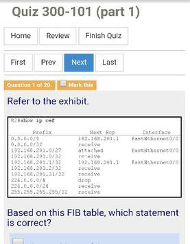 Quiz CCNP Routing Switching apk screenshot