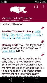 SDA Sabbath School Quarterly poster