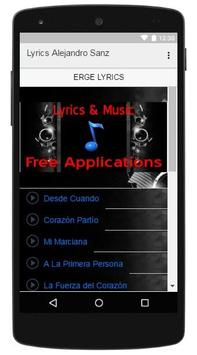 Lyrics Music Alejandro Sanz apk screenshot