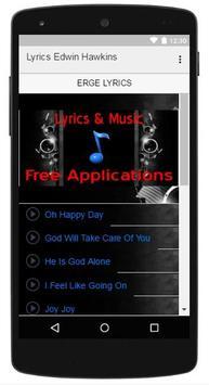 Lyrics Music Edwin Hawkins apk screenshot