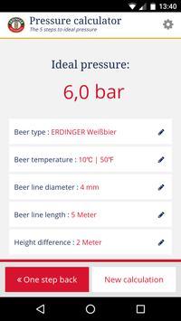 ERDINGER draft beer calculator screenshot 4