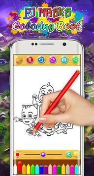 Pj Heroes Masks Drawing Coloring Book screenshot 5