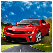 Flying Muscle City Driving 3D icon