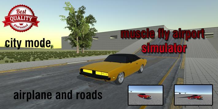 Flying Muscle City Driving 3D apk screenshot