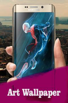 Black Spider Lock Screen HD poster