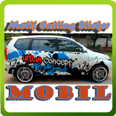 Motif Cutting Sticker Mobil icon