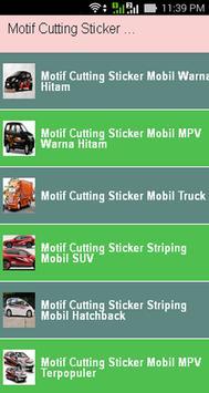 Motif Cutting Sticker Mobil poster