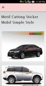 Motif Cutting Sticker Mobil apk screenshot