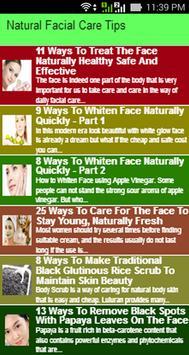 Natural Facial Care Tips poster