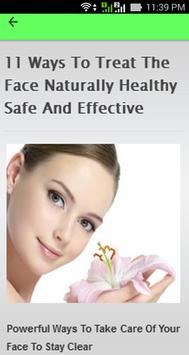 Natural Facial Care Tips screenshot 2