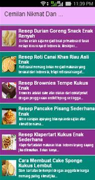 Cemilan Nikmat Dan Kue Lezat poster