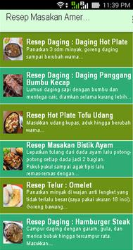 Resep Masakan Amerika apk screenshot