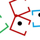 Flat square icon