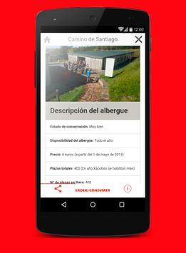 Camino de Santiago Eroski apk screenshot