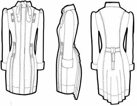 Fashion Design Flat Sketch New poster