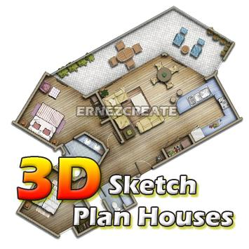 3D Sketch Plan Houses apk screenshot