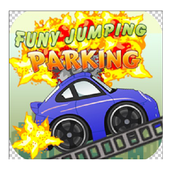 funy jumping parking icon