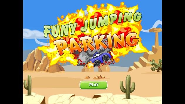 funy jumping parking poster