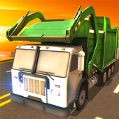 4x4 City Garbage Truck Driver icon