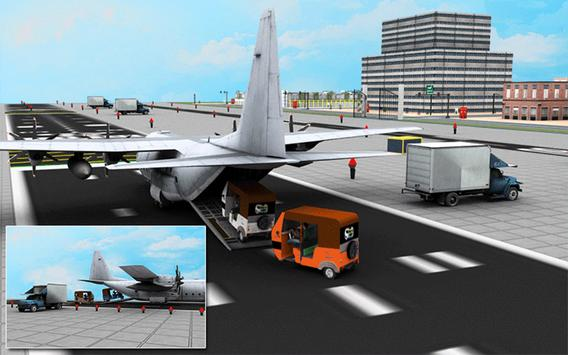 Cargo Plane Rickshaw Transport apk screenshot