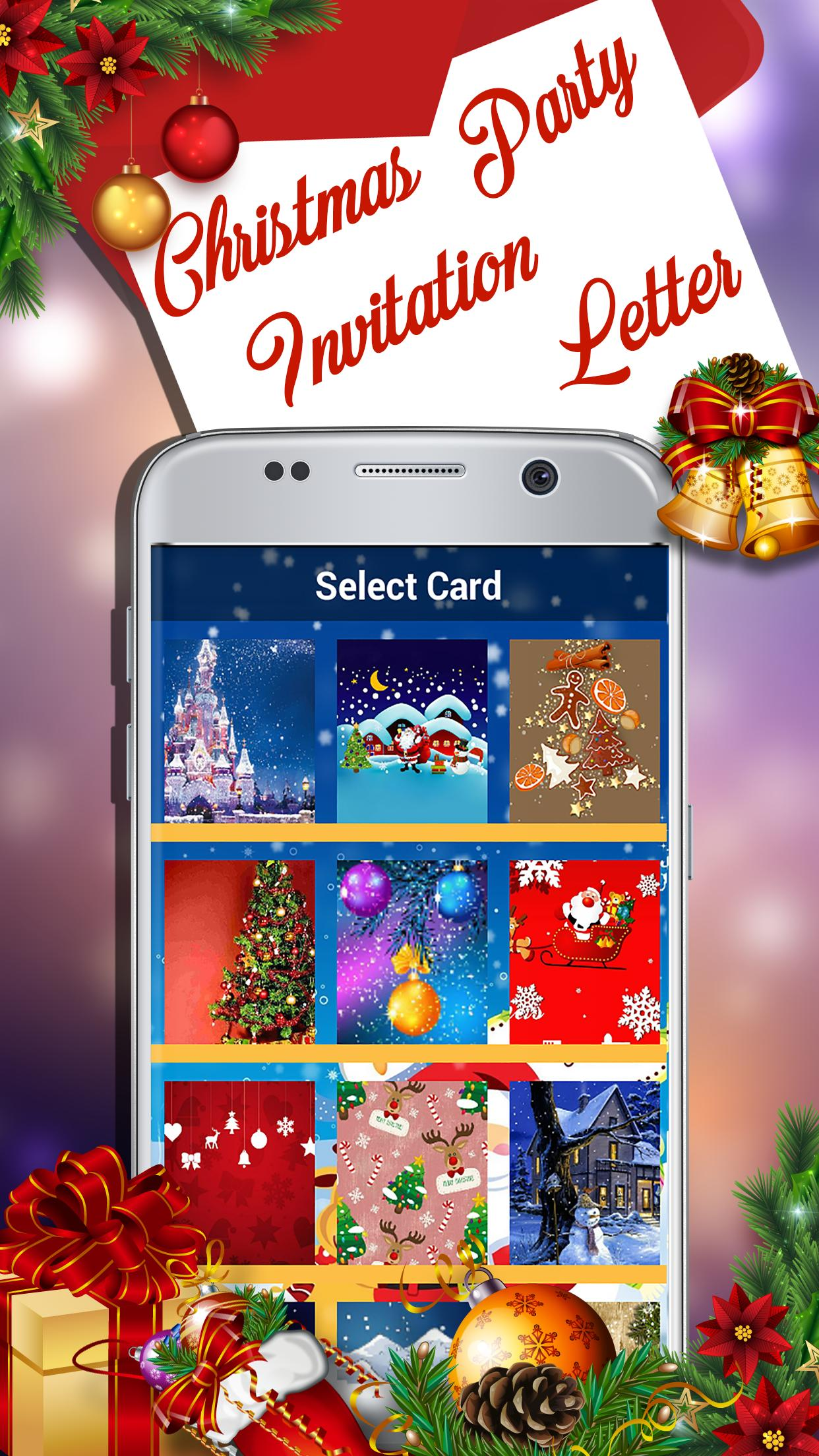 Christmas Party Invitation Letter Cards Maker For Android