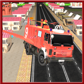 Flying Firefighter Truck 3D icon