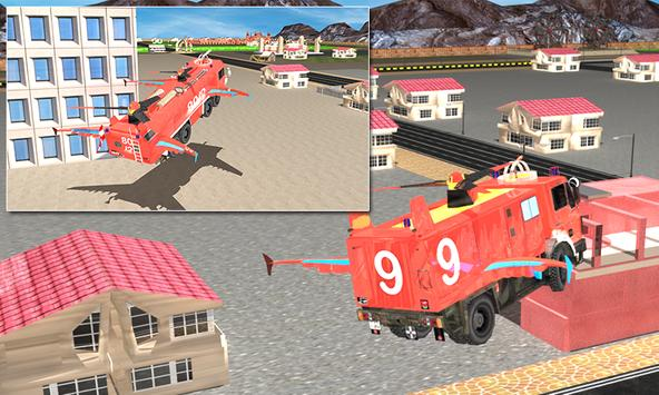Flying Firefighter Truck 3D poster