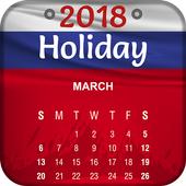 Russia Holiday Calendar 2018 icon