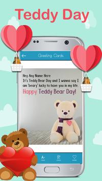 Teddy day Greeting Cards Maker apk screenshot