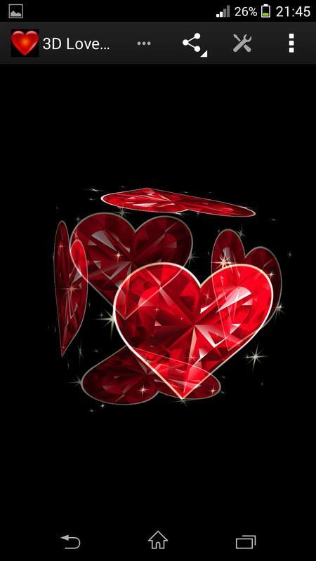 3D Love Heart Live Wallpaper poster 3D Love Heart Live Wallpaper screenshot 1 ...