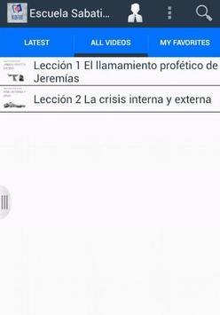 Escuela Sabatica Online Videos apk screenshot