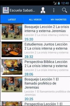 Escuela Sabatica Online Videos poster