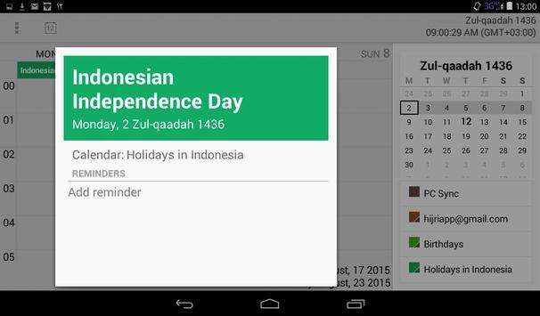 Muslim Calendar screenshot 13