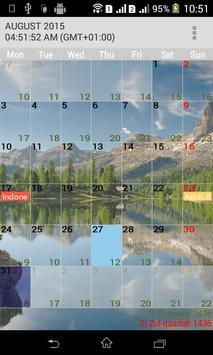 Muslim Calendar screenshot 2