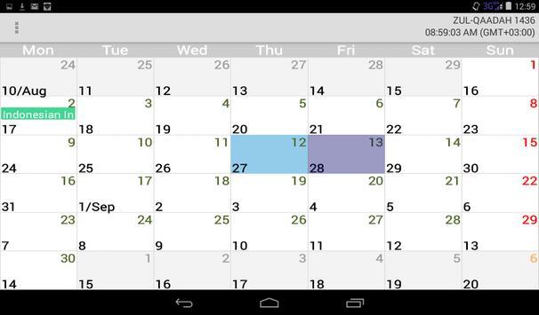 Muslim Calendar screenshot 7