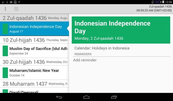 Muslim Calendar screenshot 9
