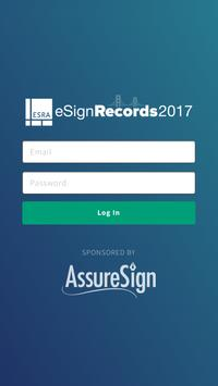 eSign Records 2017 Conference poster