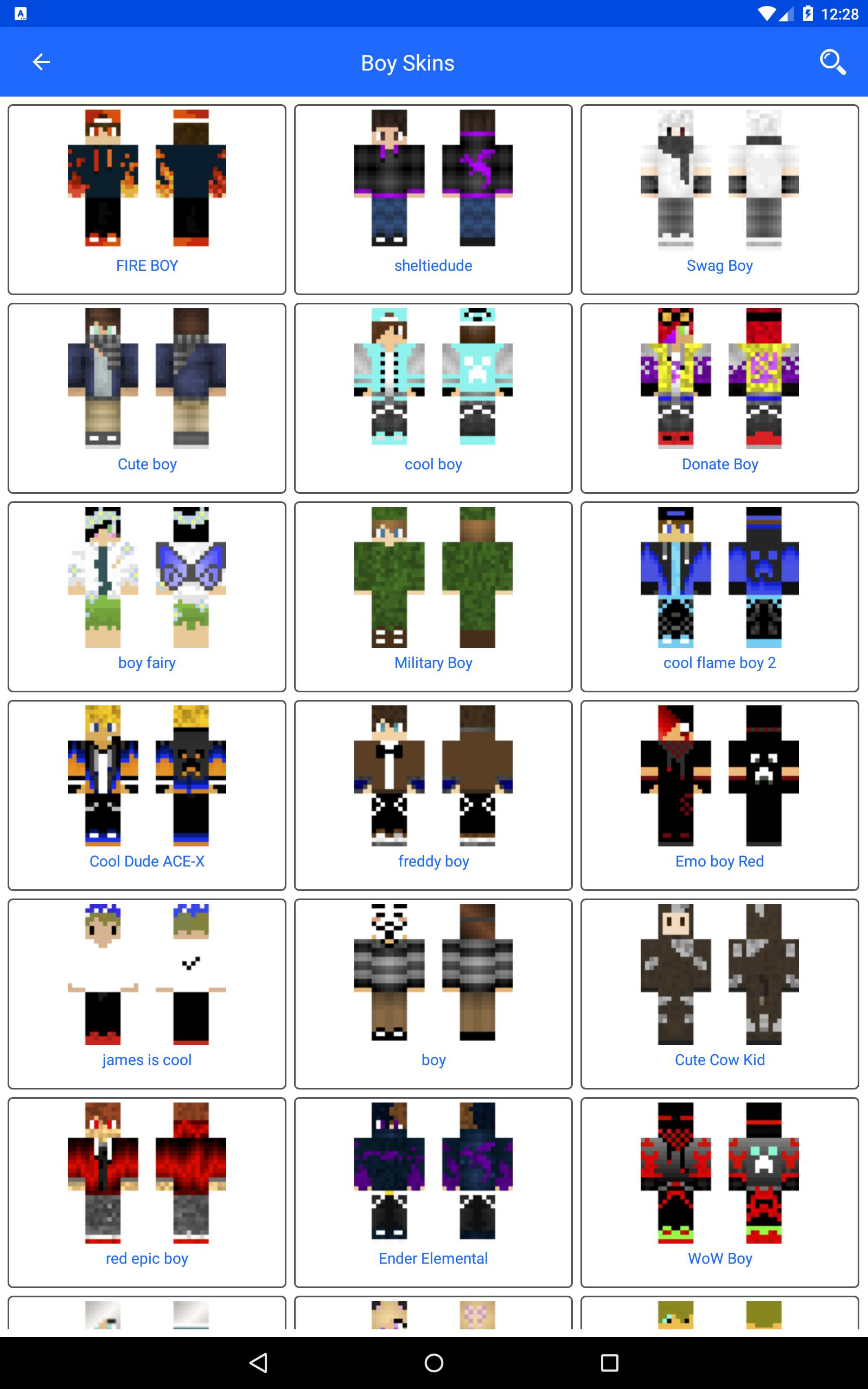 Boy Skins - Beautiful Skins for Minecraft Edition for