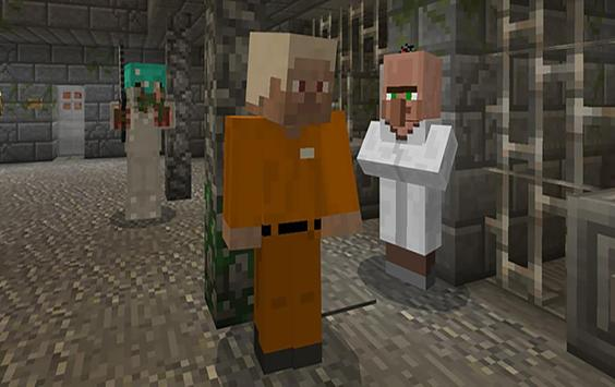 Evasion of Prison. Minecraft PE maps quest adventu poster
