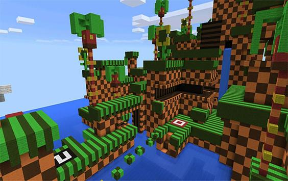 Sonic Parkour! parkour MCPE map! apk screenshot
