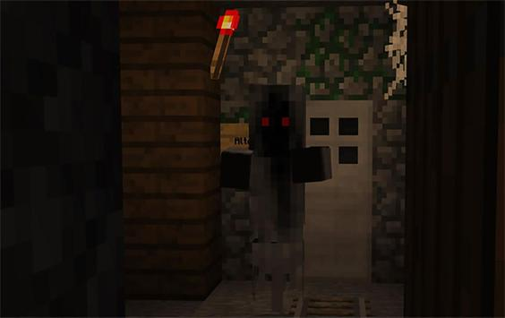 The Haunted Tunnel. Map for Minecraft PE adventure poster