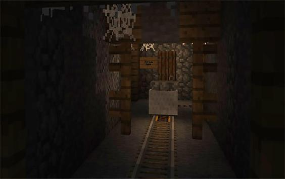 The Haunted Tunnel. Map for Minecraft PE adventure apk screenshot