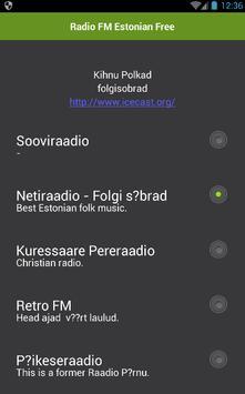 Radio Estonian Free apk screenshot