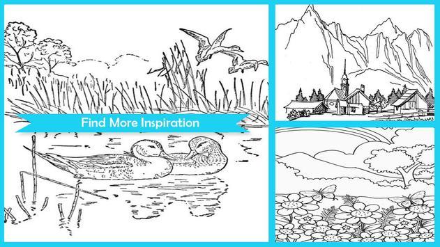 Amazing Nature Coloring Books Poster Screenshot 1
