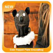 Cute Puppet Plate Groundhog icon