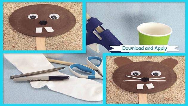 Cute Puppet Plate Groundhog poster