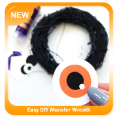 Easy DIY Monster Wreath icon