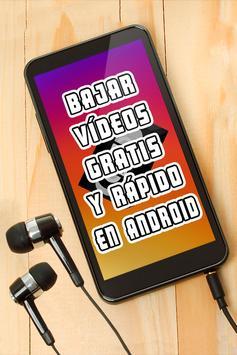 Bajar Videos Gratis y Rápido al Celular Manual poster