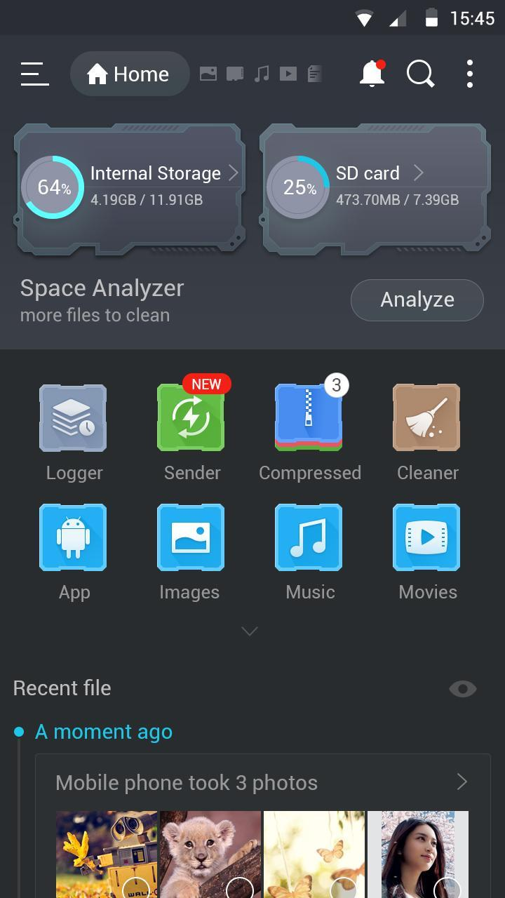 ES Dark Theme for free for Android - APK Download